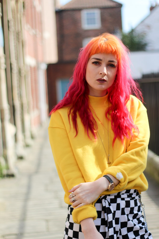 Alternative style blogger foxxtailz in shein