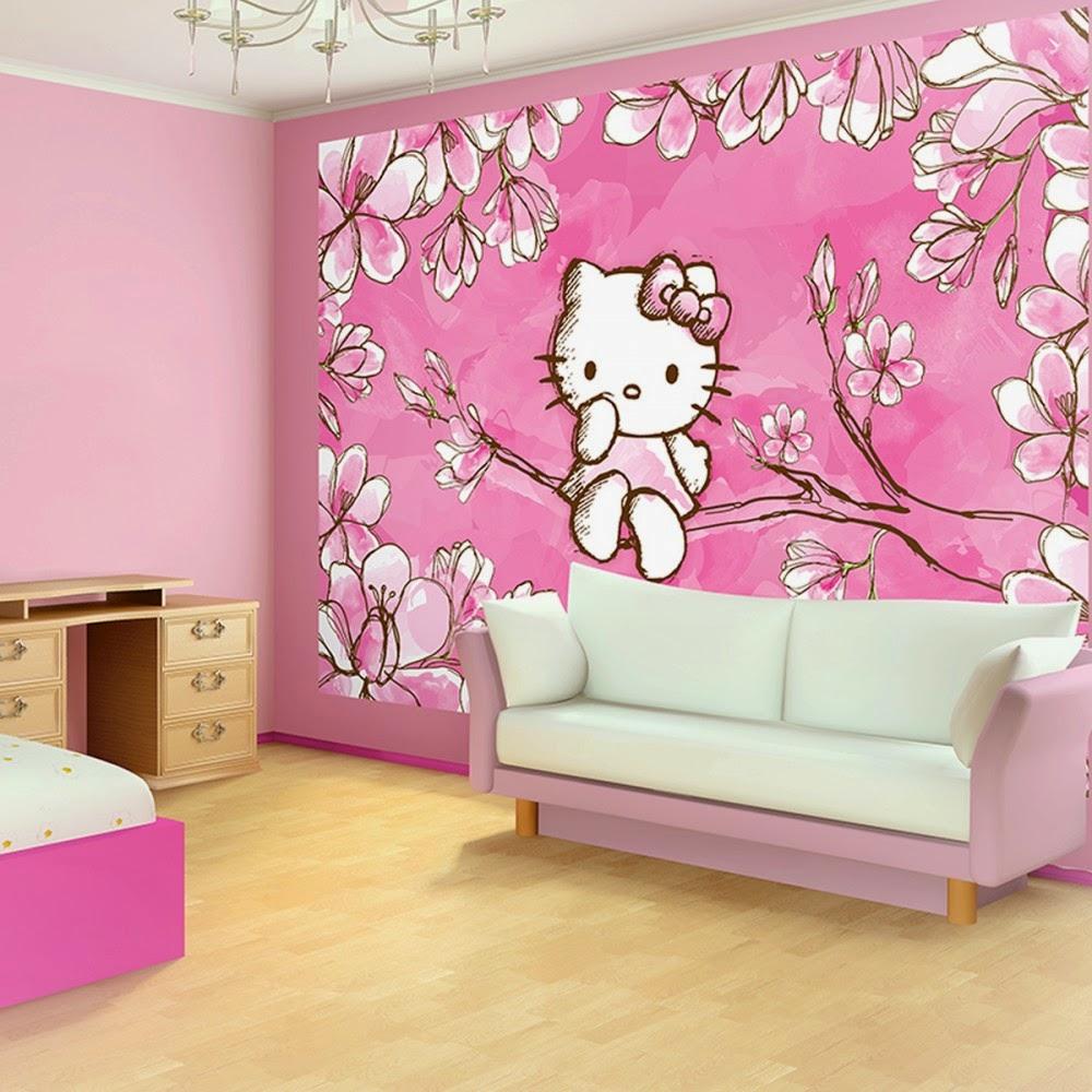 Desain Kamar Tidur Tema Hello Kitty Interior Minimalis