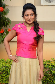 Ashmita in Pink Top At Om Namo Venkatesaya Press MeetAt Om Namo Venkatesaya Press Meet (58).JPG