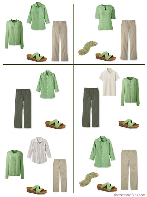 six ways to wear greenery with olive green and khaki