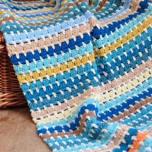 Granny Block Blanket - Free Pattern