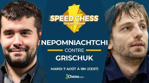 Le match Alexander Grischuk vs Ian Nepomniachtchi sur BlitzStream