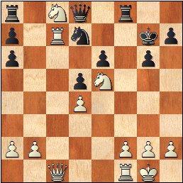 Partida de ajedrez Pepita Ferrer - María Luisa Gutiérrez, 1961, posición después de 19.Cxc8
