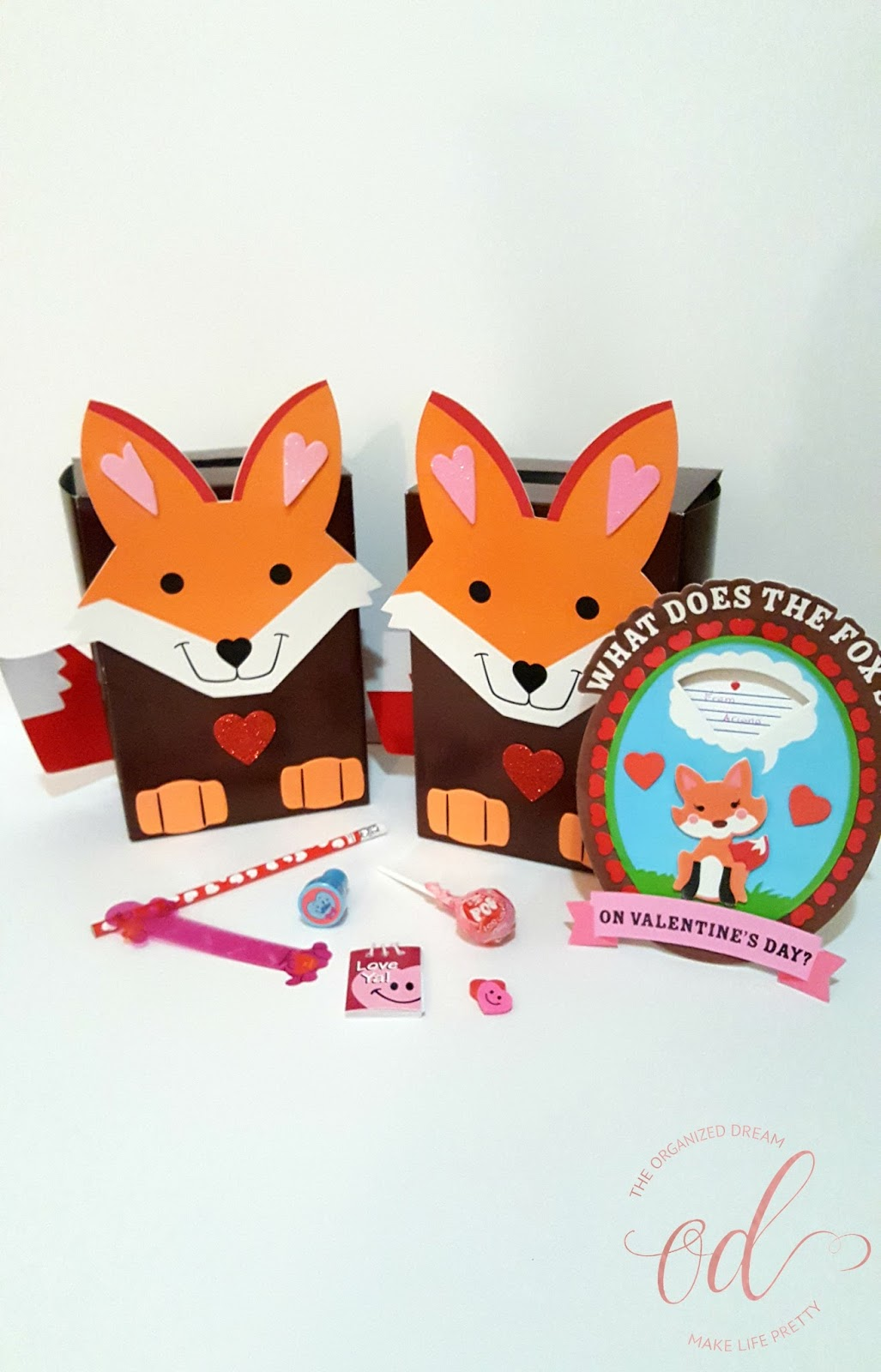 Fun Foxy Valentines Day Goodie Boxes The Organized Dream
