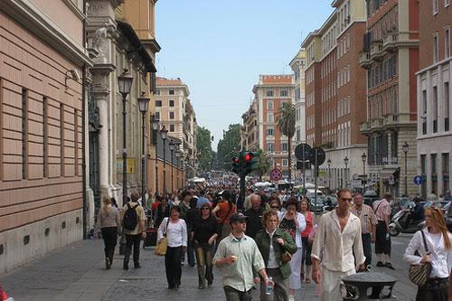 kalabalık cadde