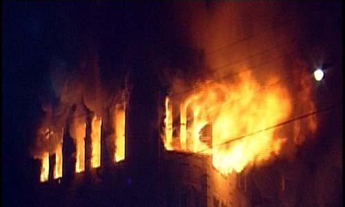 انقطاع الكهرباء عن رفح بسبب حريق هائل