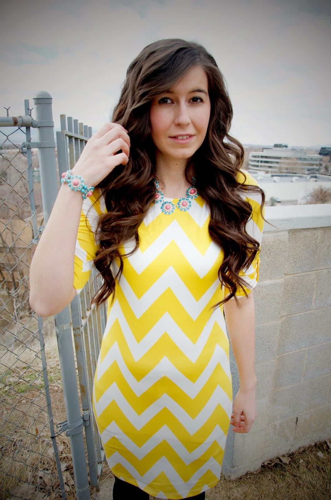 bliss bracelet, edward eliason photography, bliss necklace, chevron bodycon dress, chevron dress, chevron outfit, dolce vita, jewerly, our world boutique, our world boutique jewerly, ourworldboutique,