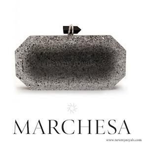 Princess Madeleine MARCHESA beth silver glitters clutch