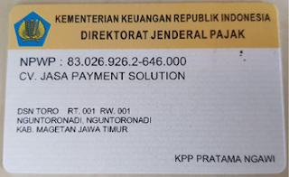 Legalitas Morena Pulsa CV. Jasa payment Solution