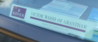 Victor Wood of Grantham window sticker