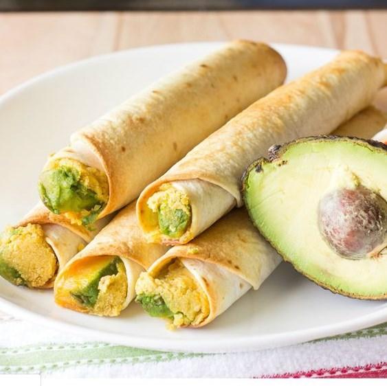 AVOCADO HUMMUS TAQUITOS #Hummus #Vegetarian