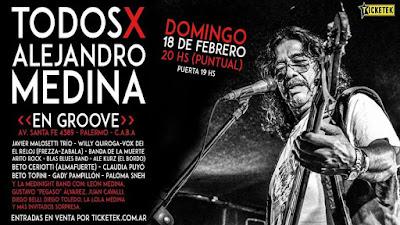 Organizan concierto a beneficio del bajista Alejandro Medina.