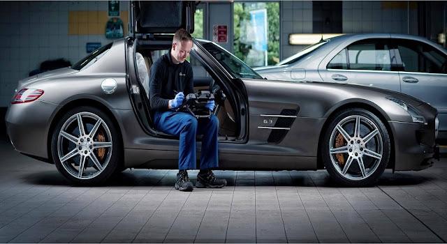 Trang thiết bị kiểm tra sửa chữa xe Mercedes hiện đại tại Mercedes Trường Chinh