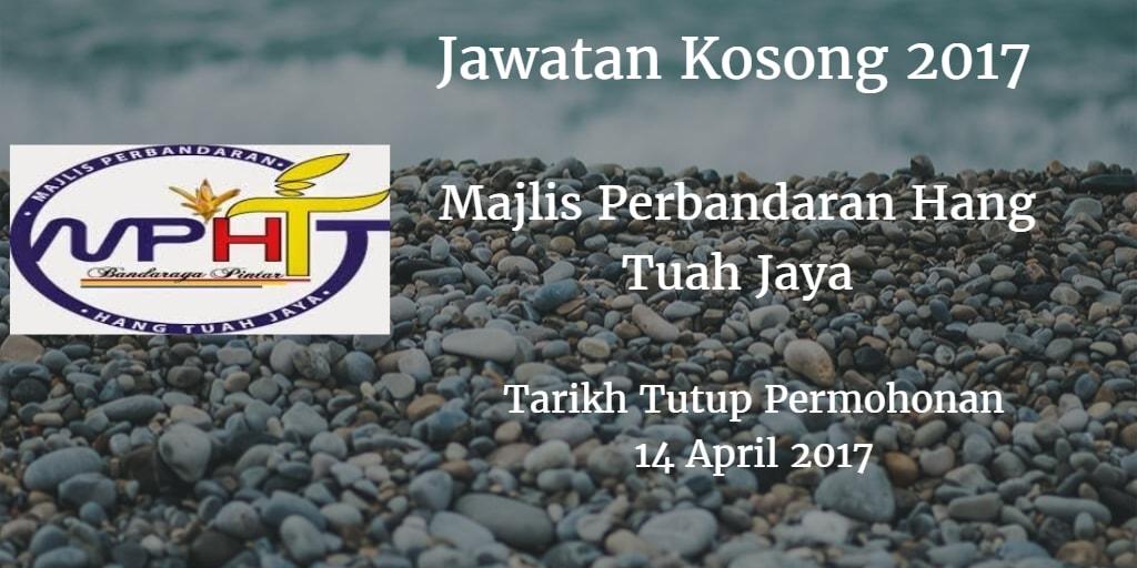 Jawatan Kosong MPHTJ14 April 2017