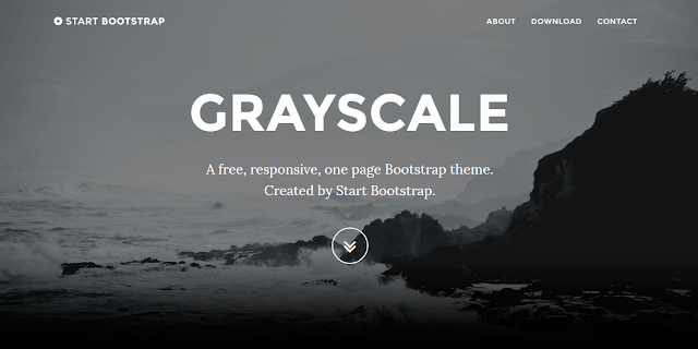 Grayscale - A free, multipurpose, one page Bootstrap theme