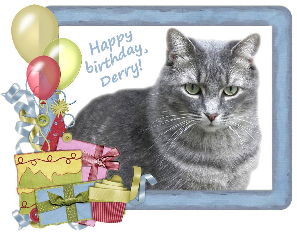 Tabby Cat Club Fuzzy Tales Happy Birthday Derry