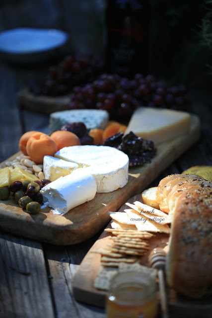 cheese board on table