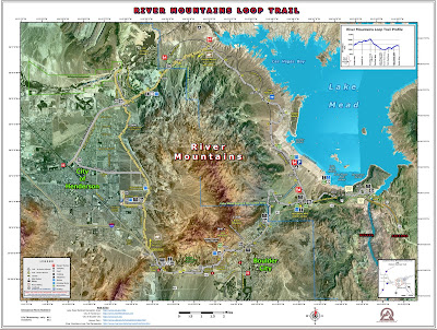 Map of River Mountains area.