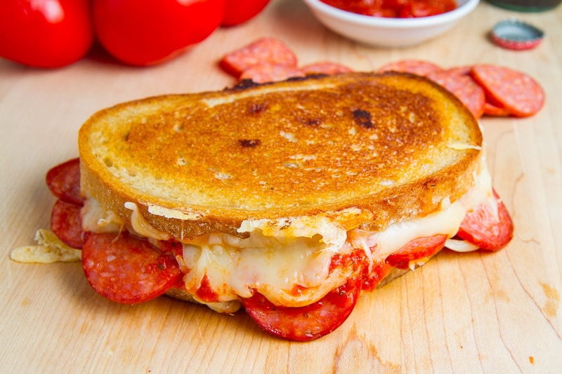 pizza grilled cheese pepperoni pizza grilled cheese recipe on closet cooking 30864
