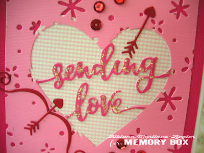 sending love card front detail center