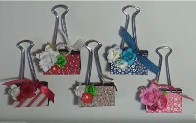 binder clip photo holder