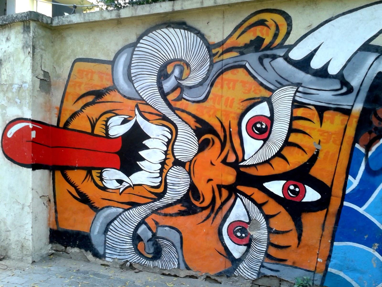 Image result for agrasen ki baoli street art
