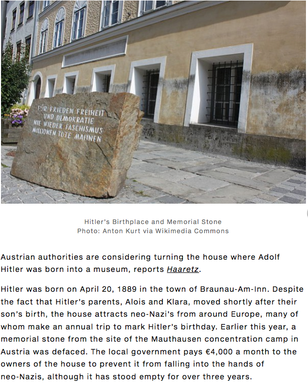 http://news.artnet.com/in-brief/hitlers-first-house-could-become-a-museum-103699