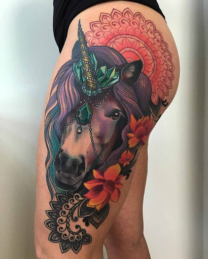 Hipnotizante composicao realista unicornio
