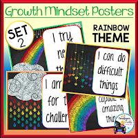 Growth Mindset Posters Rainbow Set 2