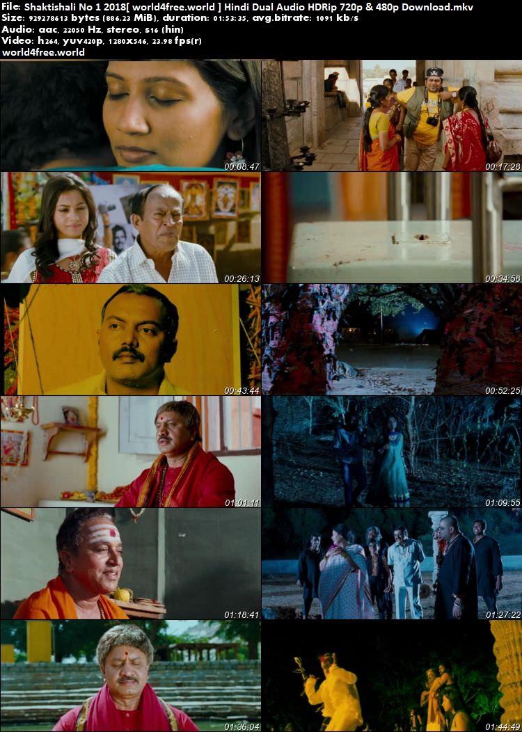 Screen shoot of Shaktishali No 1 2018 Hindi Dual Audio HDRip 720p