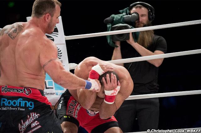 WBKFF 1 results : Dakota Cochrane def. Johny Hendricks via knockout (punches) – Round