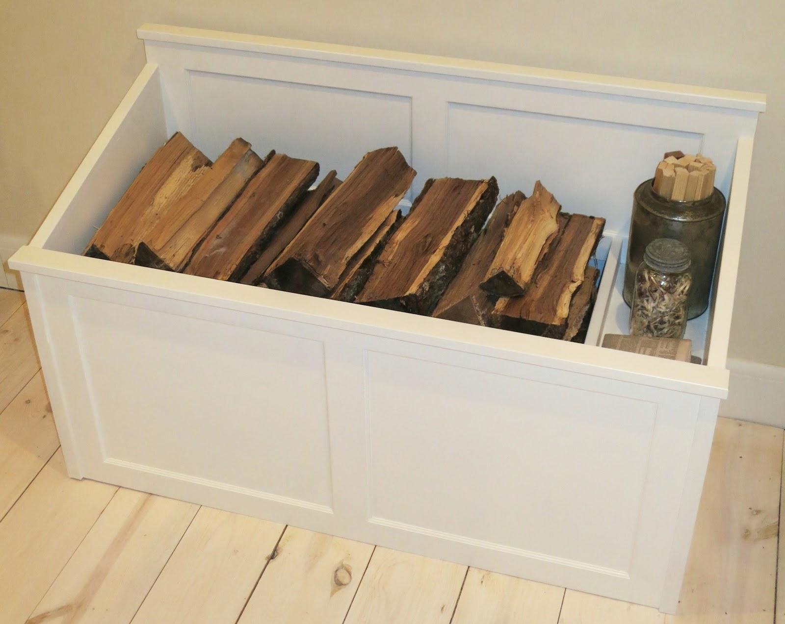 the firewood box.