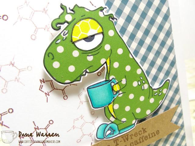 Dana Warren - Kraft Paper Stamps - Coffee Loving Cardmakers - The Rabbit Hole Designs