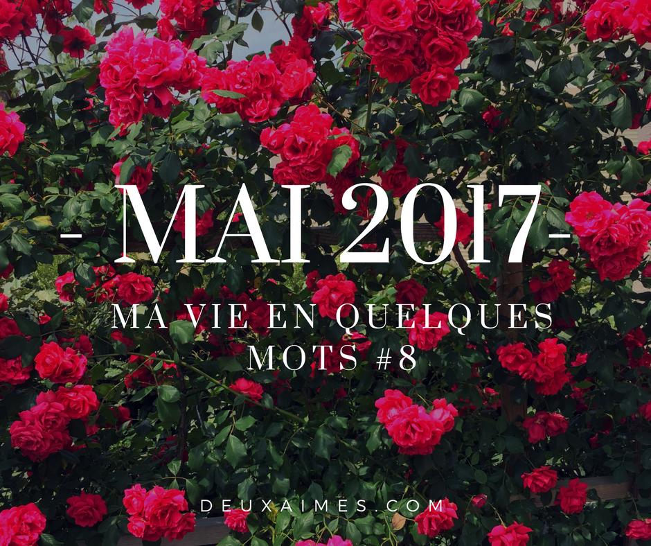 Voici mon Bilan de Mai 2017 - Humeurs, Culture, Cinéma, Série, Lecture, Blogging - @DeuxAimes