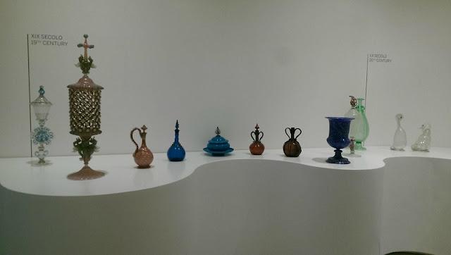 Peças expostas no Museu do Vidro em Veneza