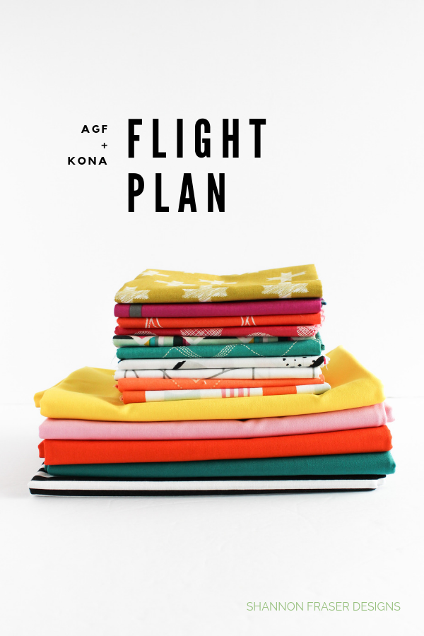 AGF + Kona Solids Flight Plan Quilt Bundle | Q2 2019 Finish-A-Long Proposed Projects | Shannon Fraser Designs