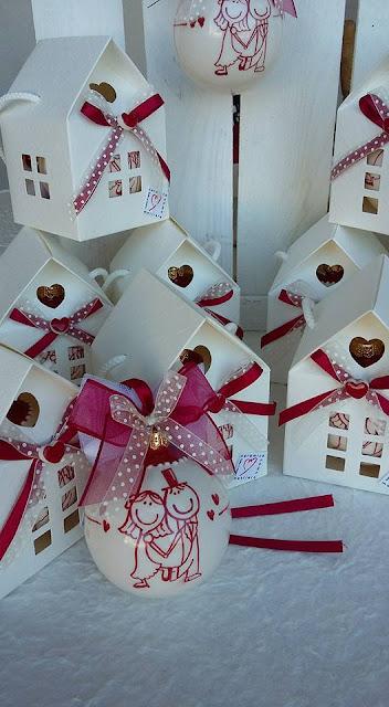 Bomboniera Matrimonio Natalizio : Ceramica come mestiere pallina di natale con sposini