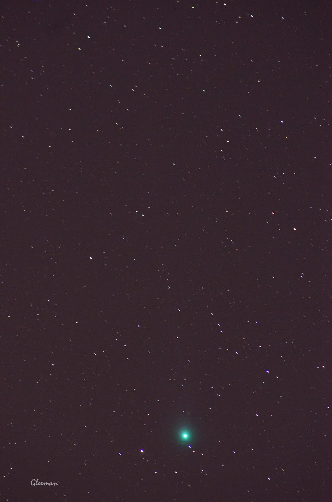 Comet Lovejoy/  Pentax k5, Tamron SP 300 (60B) , O-GPS1 30sec