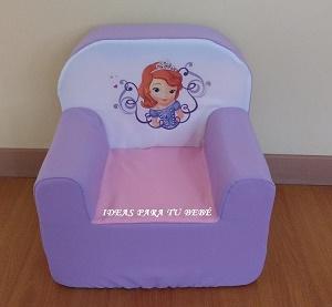 Sillón infantil princesa sofía