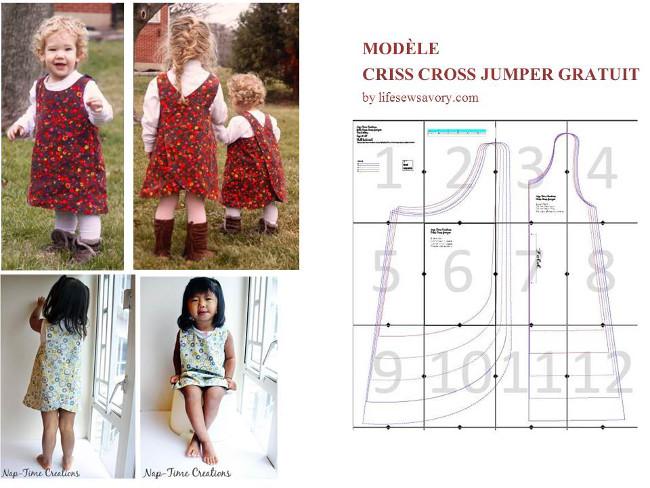 d9a3236efbf Un modèle gratuit de robe avec une jupe à plis petite fille sur le site  Marie Claire Idées