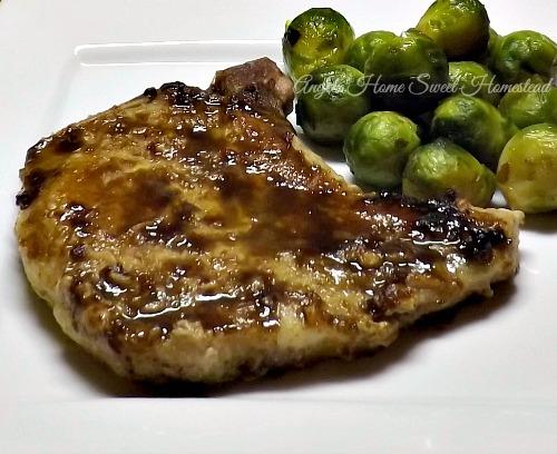 Home Sweet Homestead: Balsamic Dijon Glazed Pork Chops