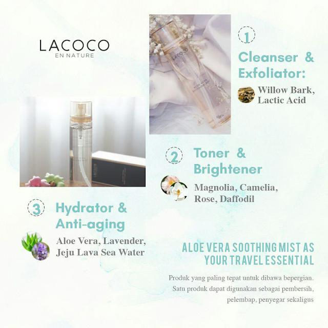 Cara Penggunaan Lacoco Aloe Vera Soothing Face Mist