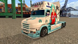 Hatsune Miku skin for Scania T