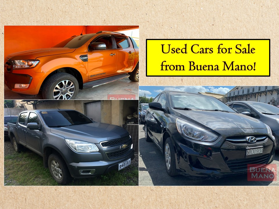 "There are many reasons to buy a used or pre-owned cars! If you need a car but could not afford a brand new, perhaps this is a time to look for used car models at a depreciated price. Some of us need a car but don't like to have several years of a monthly payment — then you may consider searching for used cars in the financial institutions or banks! Here in the Philippine, there are hundreds or even thousands of pre-owned cars for sale from where you can choose from.   Pre-owned vehicles or bank-repossessed cars for sale are vehicles that came from auto loan borrowers who failed in their loan obligation.   Below is the list of pre-owned cars from Buena Mano who said that ""Good buys need not be expensive"".  Jbsolis.com is not affiliated nor connected with Buena Mano. This post is for general purposes only. This list is not intended as a recommendation of any particular company or product. To find the right opportunity for you, regardless of cost, it's important that you do your due diligence.  Please transact only with the bank's authorized personnel. Jbsolis is not liable for any transaction or contract entered into that is related to this listing."