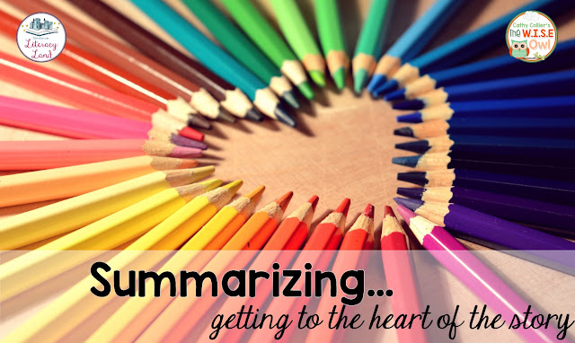 Summarizing gets to the heart of the story.  Starting with stating summaries orally, students can be instructed to write independent summaries with ease.