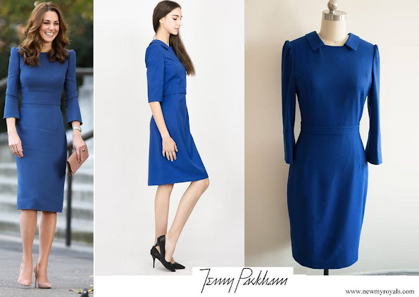 Kate Middleton wore Jenny Packham blue dress worn during the first day of the royal Canada
