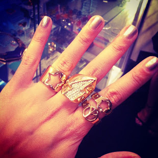 Lotus mendes Gold Rings collection 2012