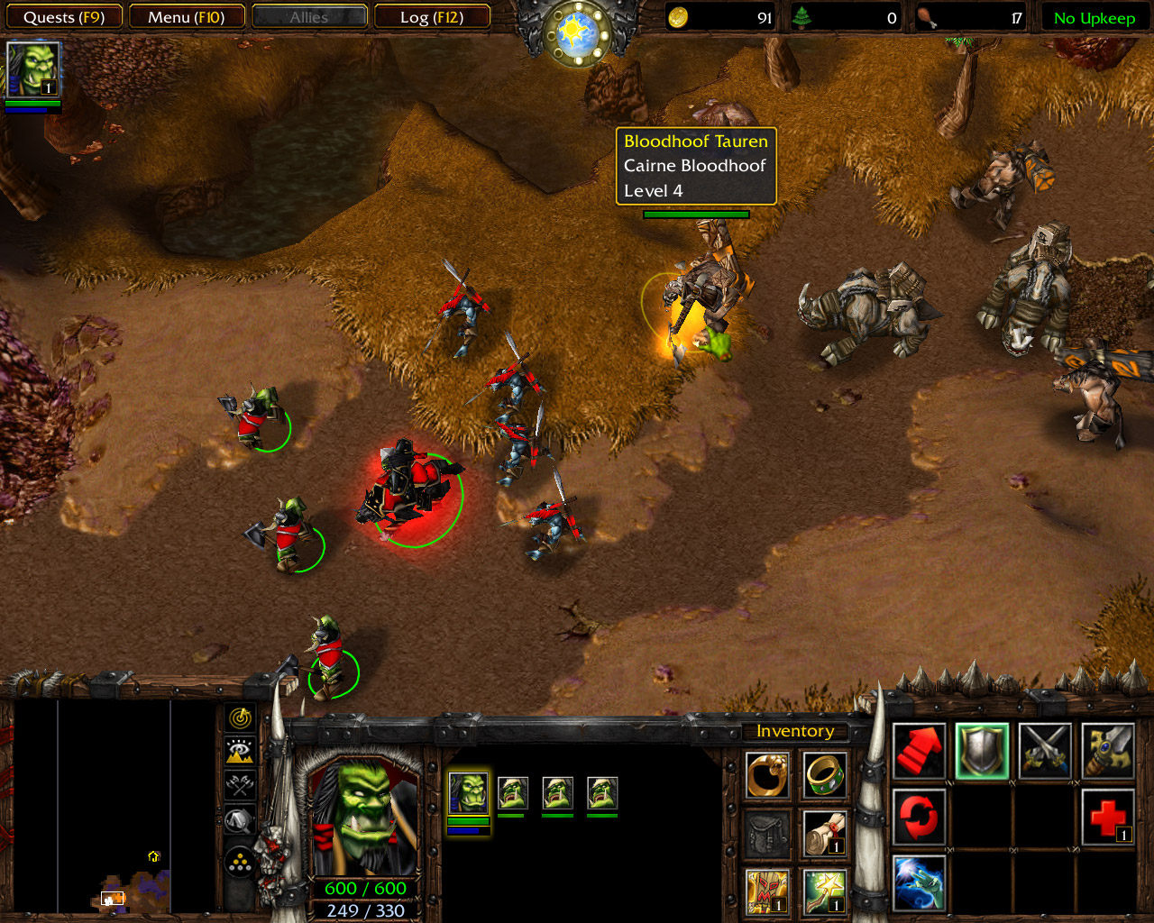 The Long March Mission 21 | Tauren Screenshot | Warcraft 3