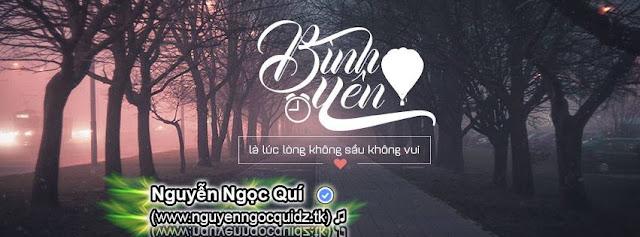 PSD ẢNH BÌA - Bình Yên - Nguyenngocquidz