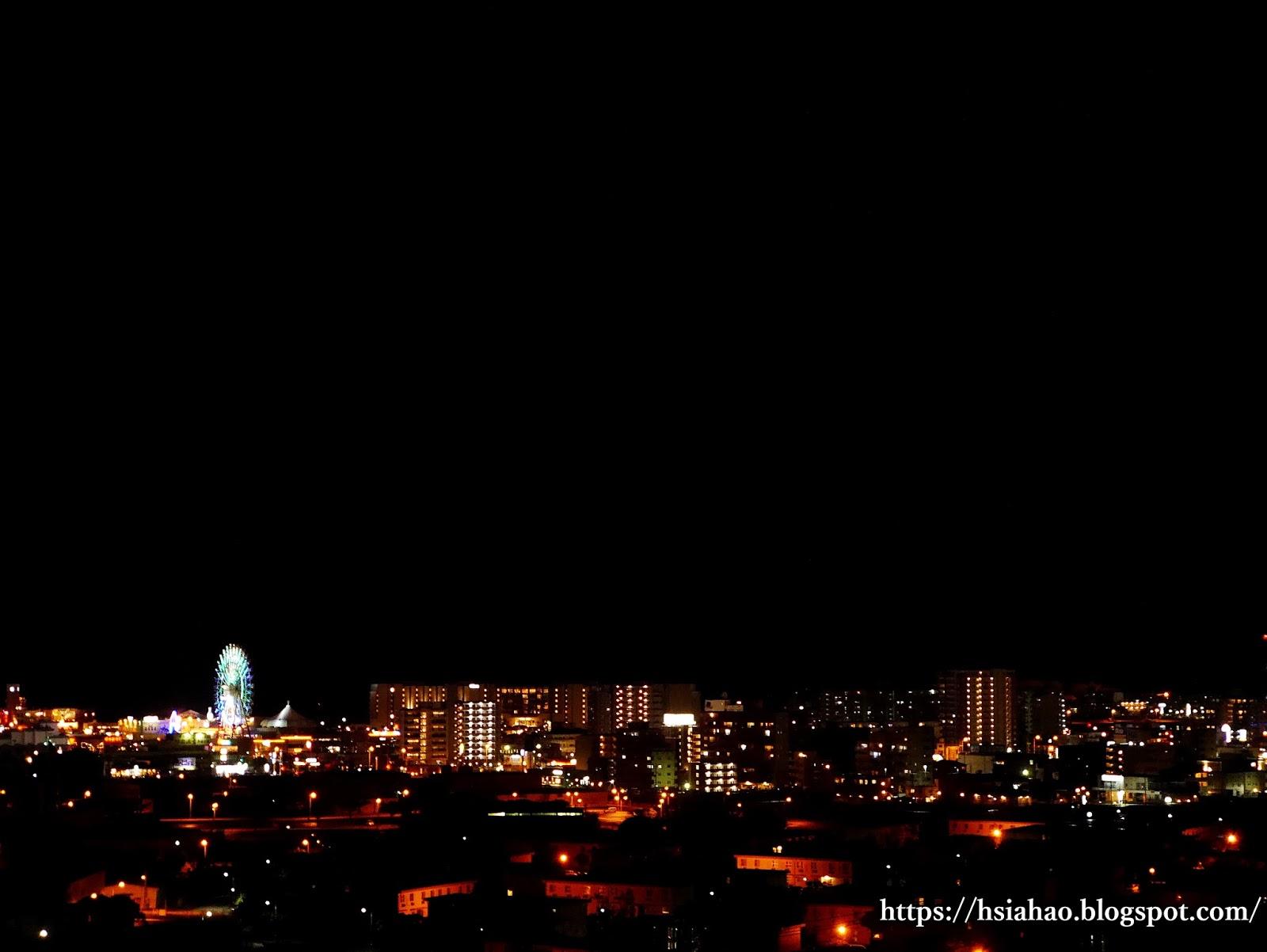 沖繩-中部-夜景-摩天輪-美國村-Okinawa-night-view